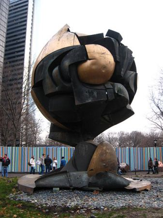 The Sphere by Fritz Koenig